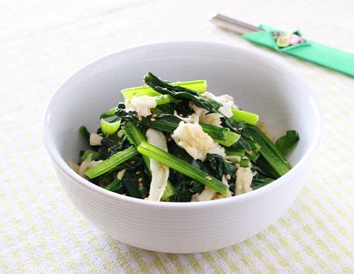 たんざく大根と小松菜のナムル