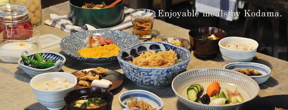 What we eat every day enriches our lives and makes us healthy.  Kodama Foods Co., Ltd.